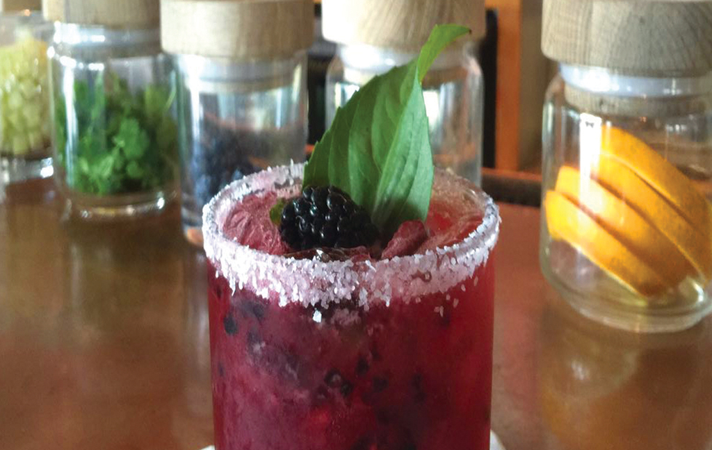 blackberry basil marg